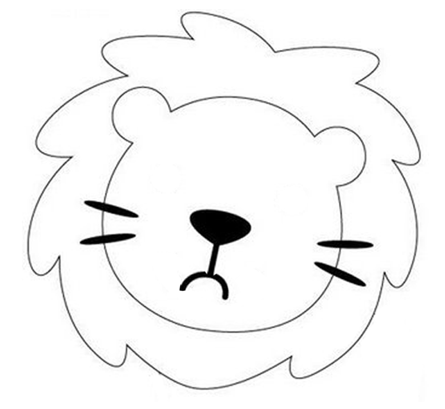 Lion Template Animal Templates