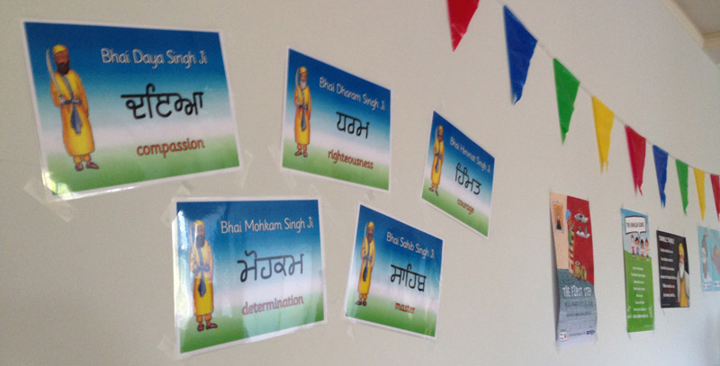 Punj Piare posters on the wall