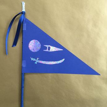 Guru Ji's Blue Nishaan Sahib Sikhi craft - Kiddie Sangat