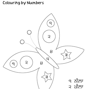 Colour by numbers – Butterfly