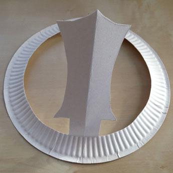 Khanda Chakkr paper plate Sikhi craft - Kiddie Sangat