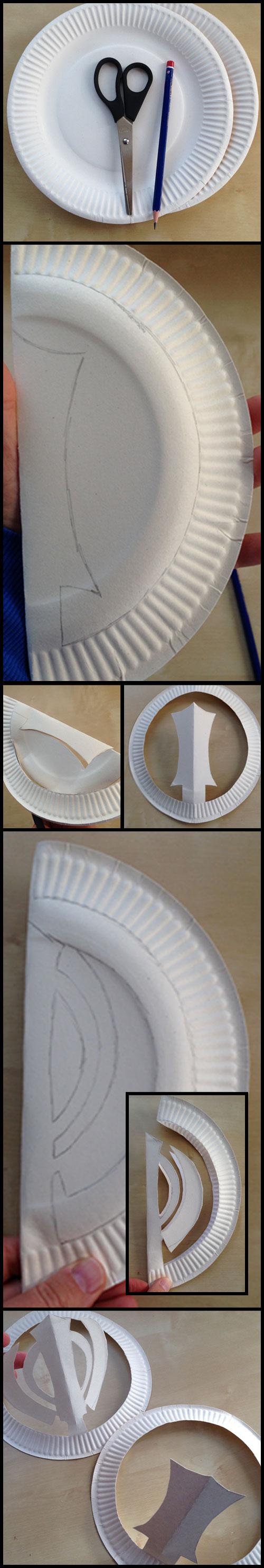 Khanda Chakkr paper plate Sikhi craft tutorial - Kiddie Sangat