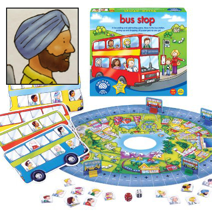 Sikh passenger in Bus Stop game by Orchard
