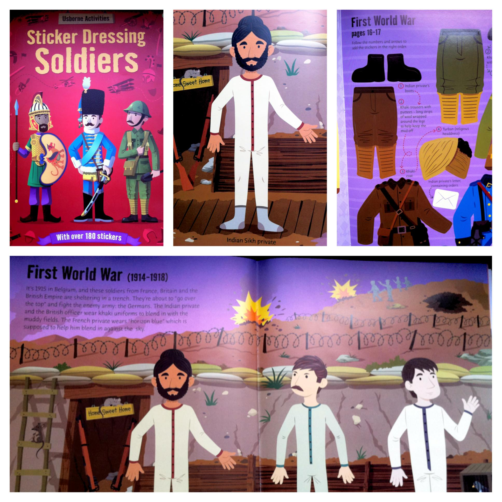 Sikhs in Soldiers sticker book by Usborne