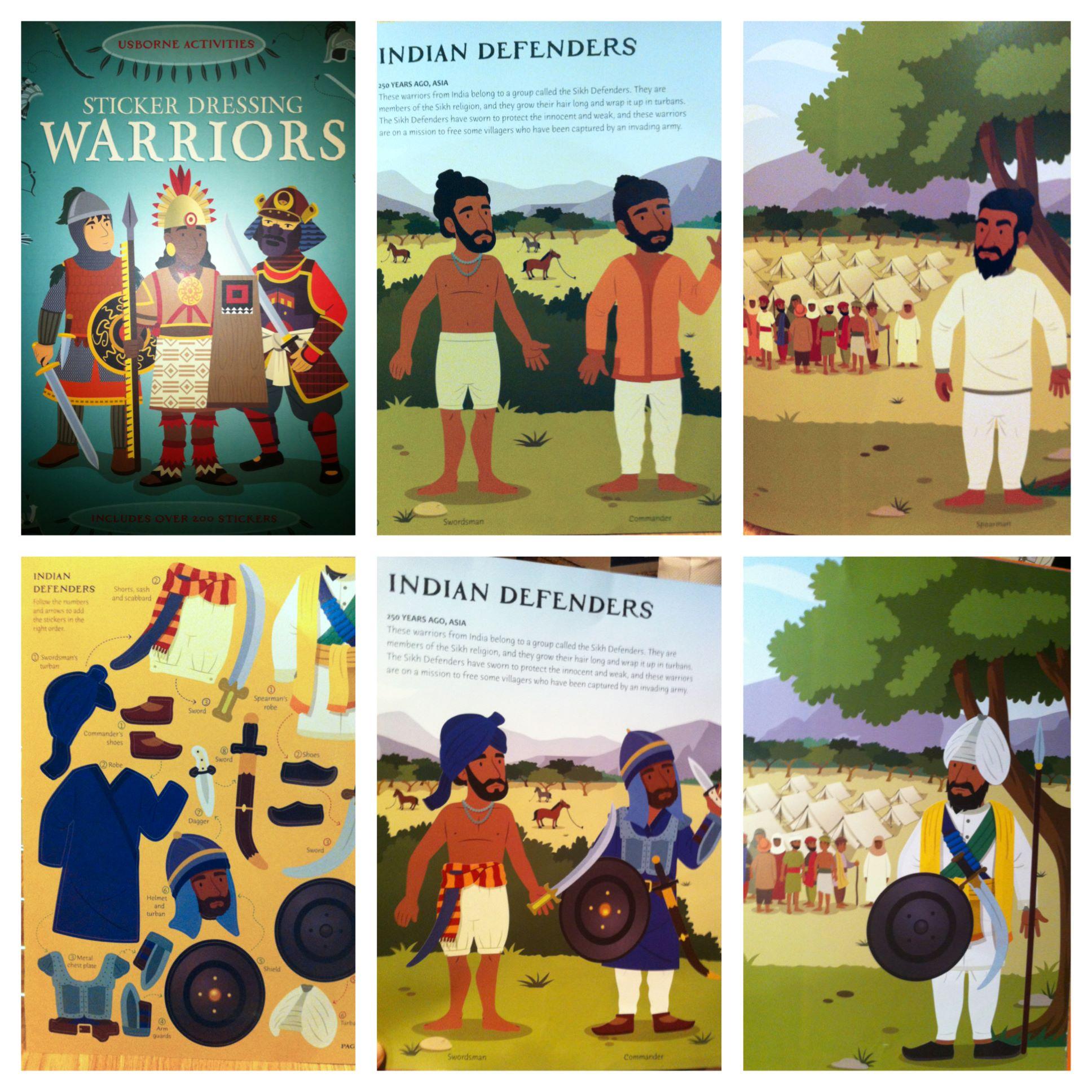Sikhs in Warriors sticker book by Usborne
