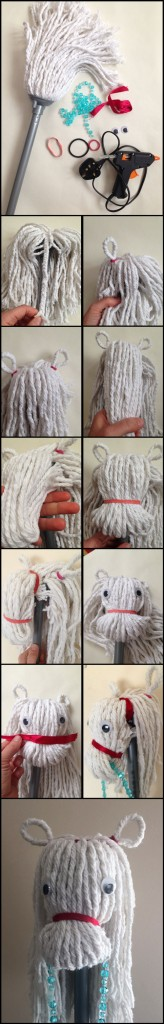 Mop Horse tutorial - Kiddie Sangat craft