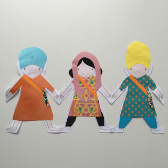 Sikhi Paper Doll Chain