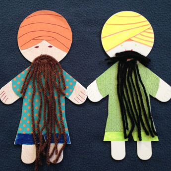 Bearded Singh puppets
