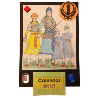Chaar Sahibzaade themed calendar