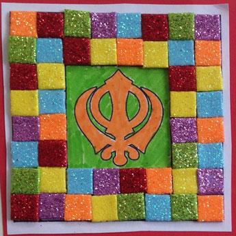 Khanda mosaic