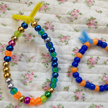 Mala making – pipe cleaners