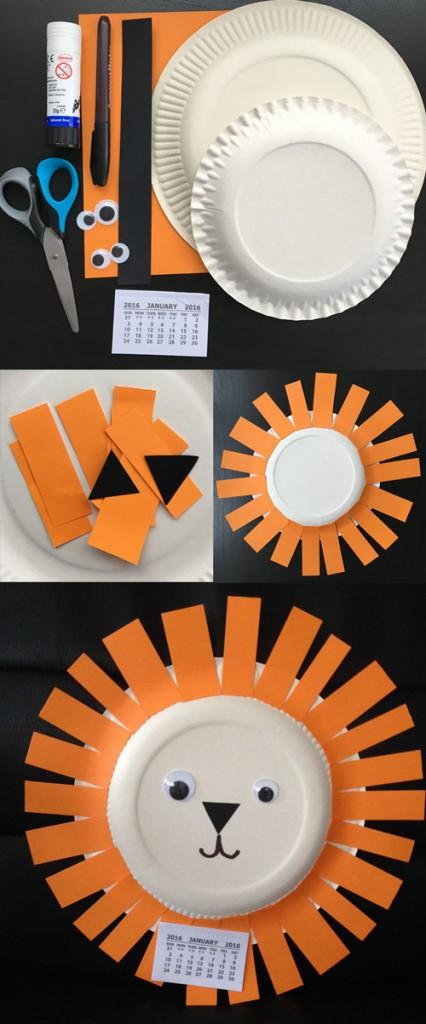 Paper Plate Lion tutorial - Kiddie Sangat